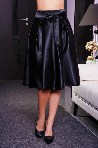 черная юбка с бантом. юбка мод. №10. Цвет: черный