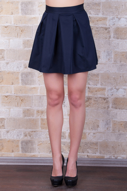черная юбка в складку. юбка мод. №7Б. Цвет: темно синий