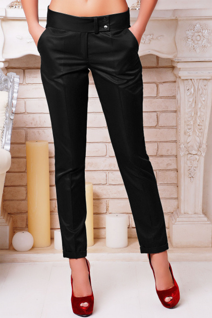 классические черные брюки. брюки Хилори. Цвет: черный