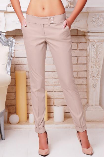 темно-красные женские брюки. брюки Хилори. Цвет: бежевый