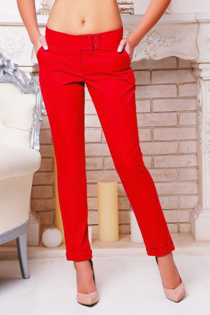 классические черные брюки. брюки Хилори. Цвет: красный