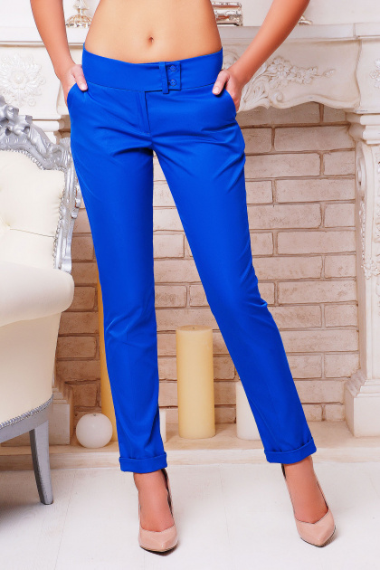 женские светло-бежевые брюки. брюки Хилори. Цвет: электрик