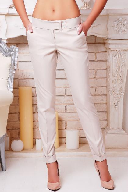классические черные брюки. брюки Хилори. Цвет: св. бежевый