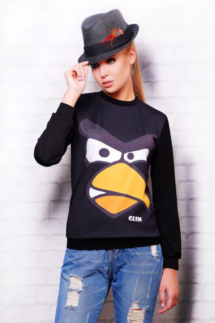 красно-черная кофта свитшот. Angry Birds кофта Свитшот №2 (весна) д/р. Цвет: черный-черная отделка