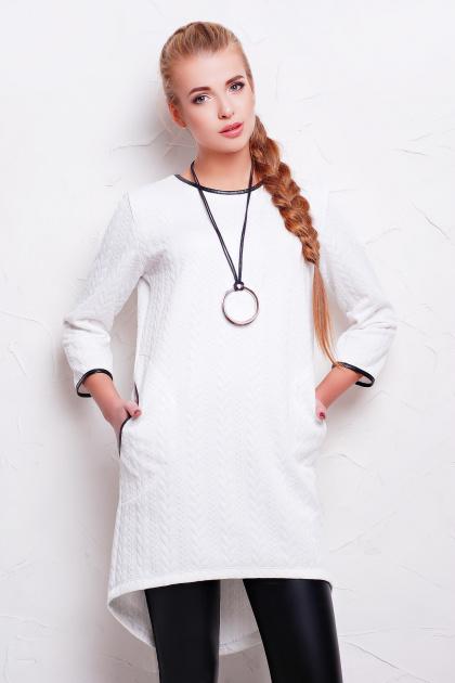 повседневное серое платье. платье Фрэнки2 д/р. Цвет: белый