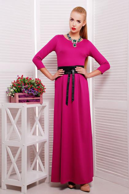 платье в пол цвета фуксии. платье Шарли3 д/р. Цвет: фуксия