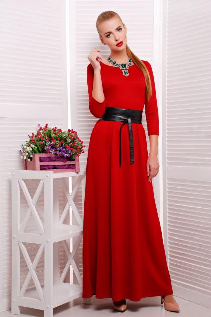 изумрудное платье длины макси. платье Шарли3 д/р. Цвет: красный