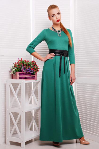 изумрудное платье длины макси. платье Шарли3 д/р. Цвет: изумрудный