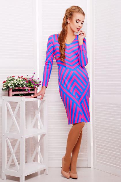 платье по фигуре с геометрическим принтом. Иллюзия платье Хлоя д/р. Цвет: принт
