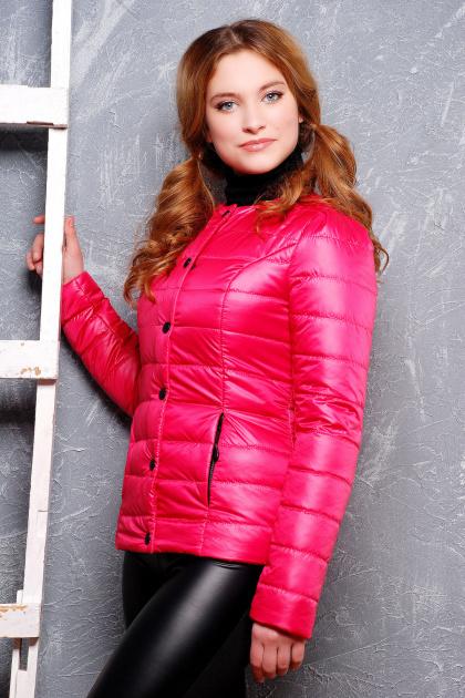 короткая женская куртка на осень цвета пудра. куртка Квин. Цвет: фуксия