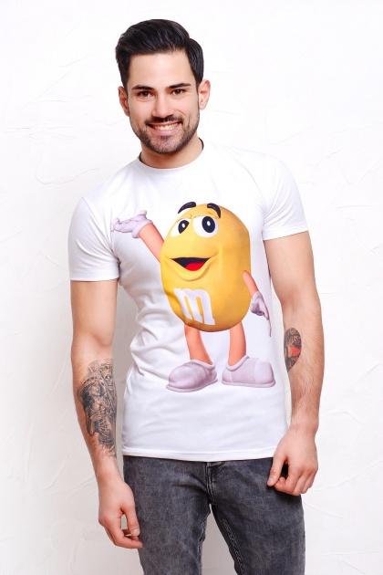 прикольная мужская футболка. m&m's Футболка Men-2В. Цвет: принт