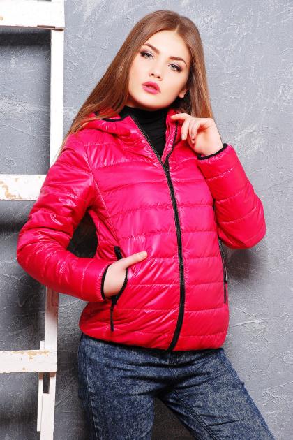 черная спортивная куртка. куртка Смарт2. Цвет: фуксия