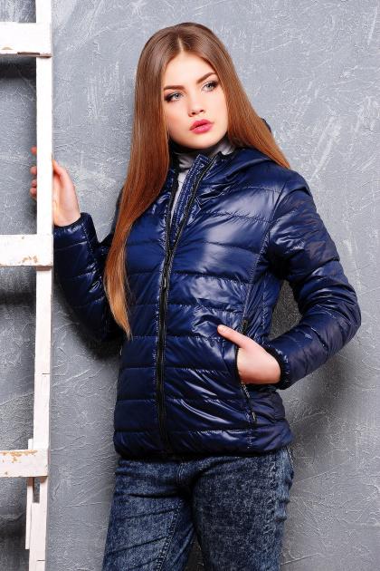 черная спортивная куртка. куртка Смарт2. Цвет: синий