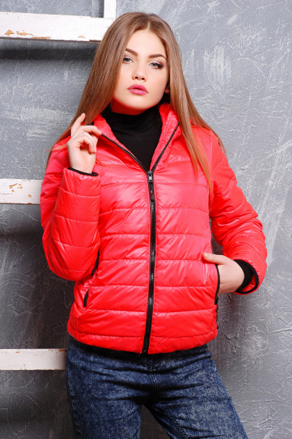 черная спортивная куртка. куртка Смарт2. Цвет: ультра розовый