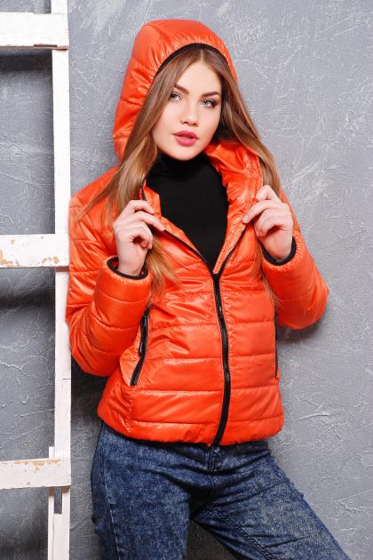черная спортивная куртка. куртка Смарт2. Цвет: оранжевый