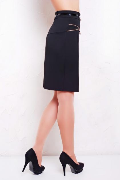деловая черная юбка. юбка мод. №17. Цвет: черный