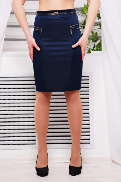 деловая черная юбка. юбка мод. №17. Цвет: темно синий