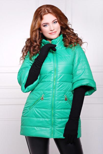 синяя куртка с рукавом три четверти. куртка Лисси. Цвет: зеленый