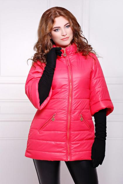 синяя куртка с рукавом три четверти. куртка Лисси. Цвет: коралл