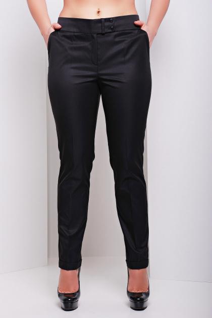 женские белые классические брюки большого размера. брюки Хилори-Б. Цвет: черный