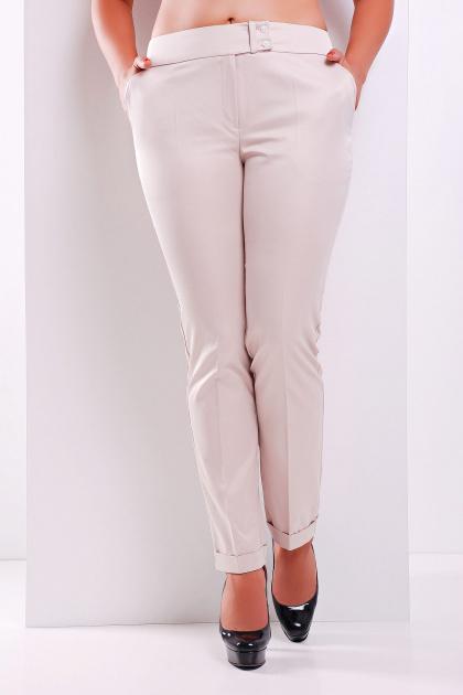 брюки цвета электрик для полных. брюки Хилори-Б. Цвет: св. бежевый