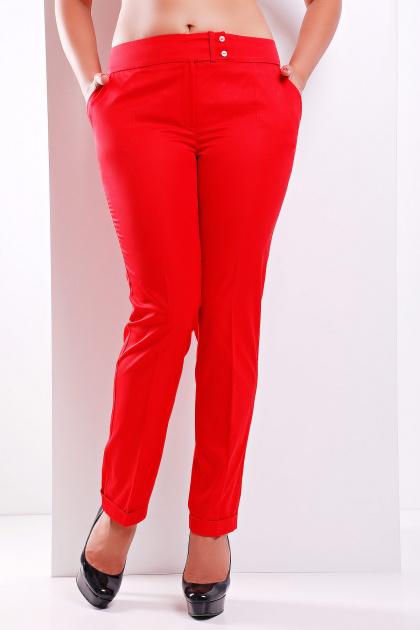 брюки цвета электрик для полных. брюки Хилори-Б. Цвет: красный