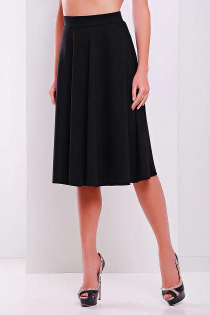 черная юбка миди. юбка мод. №19. Цвет: черный
