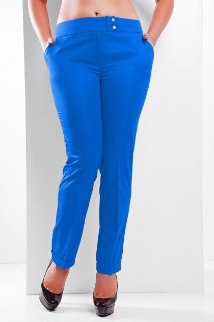 брюки цвета электрик для полных. брюки Хилори-Б. Цвет: электрик