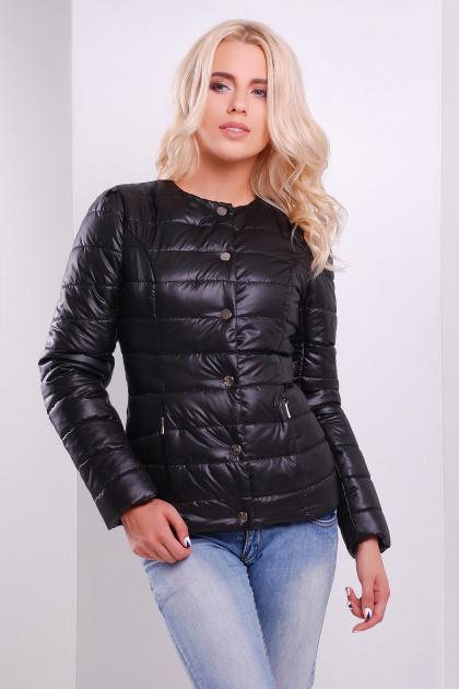 короткая женская куртка на осень цвета пудра. куртка Квин. Цвет: черный