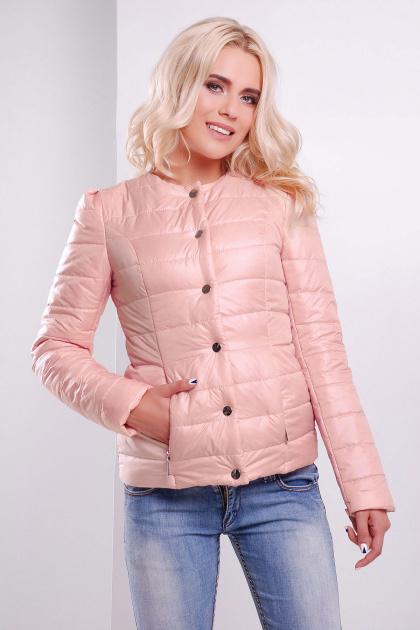 короткая женская куртка на осень цвета пудра. куртка Квин. Цвет: пудра