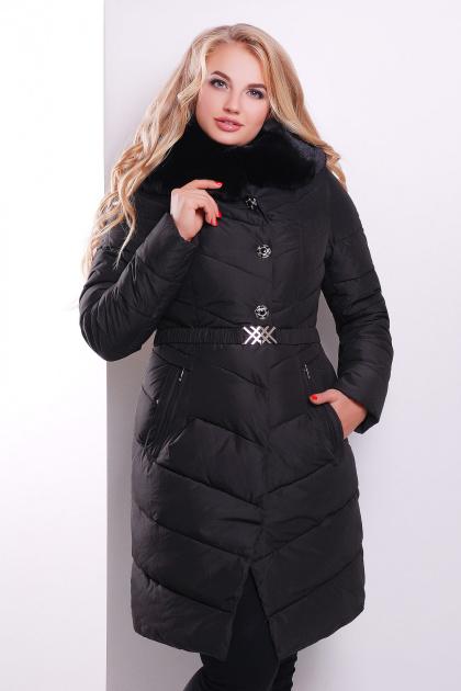 Элегантная женская куртка красного цвета с поясом. Куртка 168. Цвет: черный