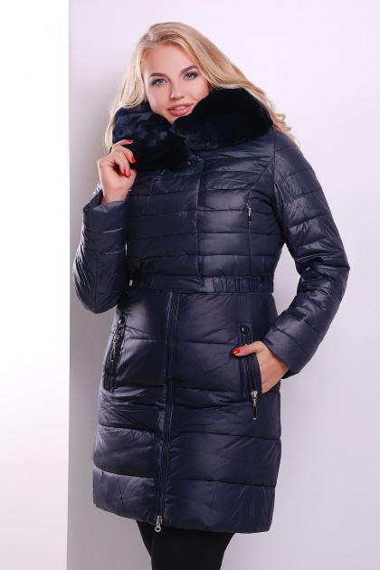 Зимняя куртка-двойка красного цвета. Куртка 13. Цвет: темно синий