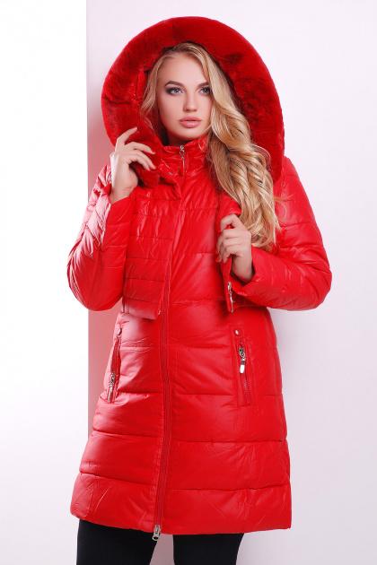 Зимняя куртка-двойка красного цвета. Куртка 13. Цвет: красный