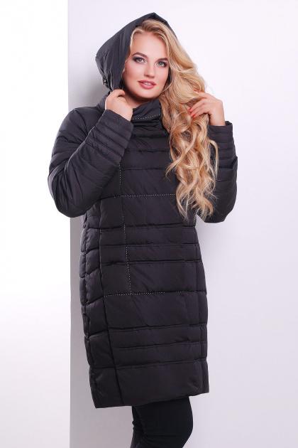 Стильная женская куртка песочного цвета. Куртка 367. Цвет: черный