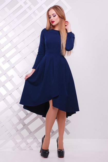 Женское платье красного цвета с ассиметричным низом. платье Лика д/р. Цвет: синий