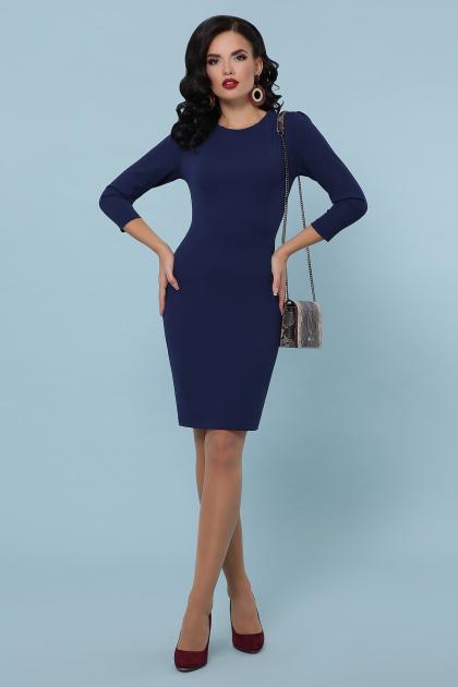 Облегающее платье выше колен красного цвета. платье Модеста д/р. Цвет: темно синий