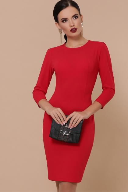 Облегающее платье выше колен красного цвета. платье Модеста д/р. Цвет: красный
