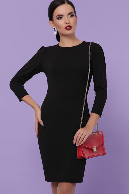 Облегающее платье выше колен красного цвета. платье Модеста д/р. Цвет: черный