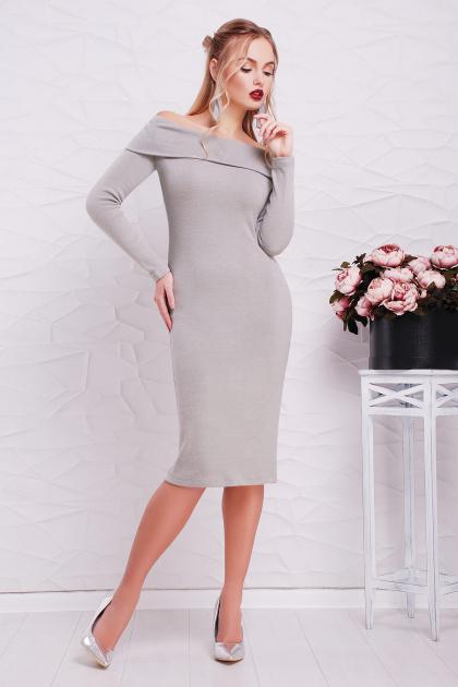 теплое сиреневое платье. платье Гвинея д/р. Цвет: серый