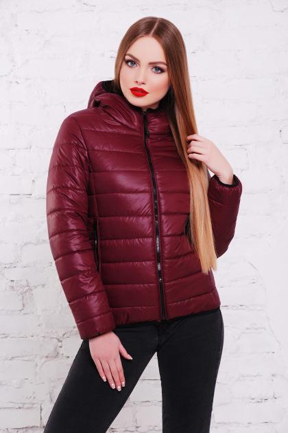 черная спортивная куртка. куртка Смарт2. Цвет: бордовый