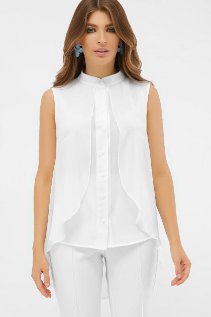 розовая блузка без рукавов. блуза Санта-Круз б/р. Цвет: белый