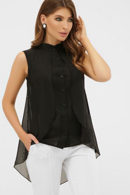 розовая блузка без рукавов. блуза Санта-Круз б/р. Цвет: черный