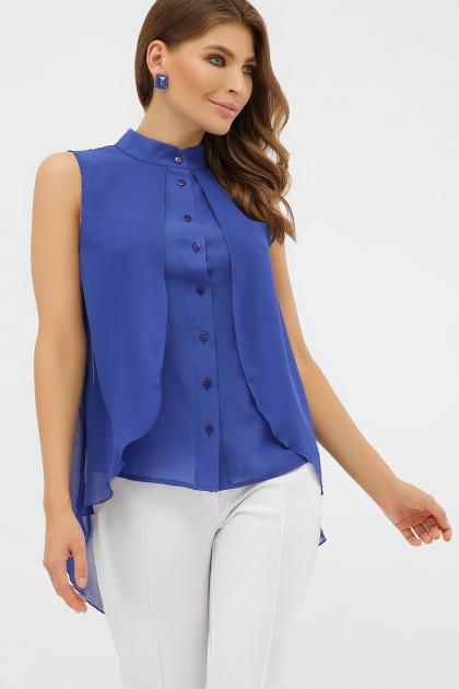 розовая блузка без рукавов. блуза Санта-Круз б/р. Цвет: электрик
