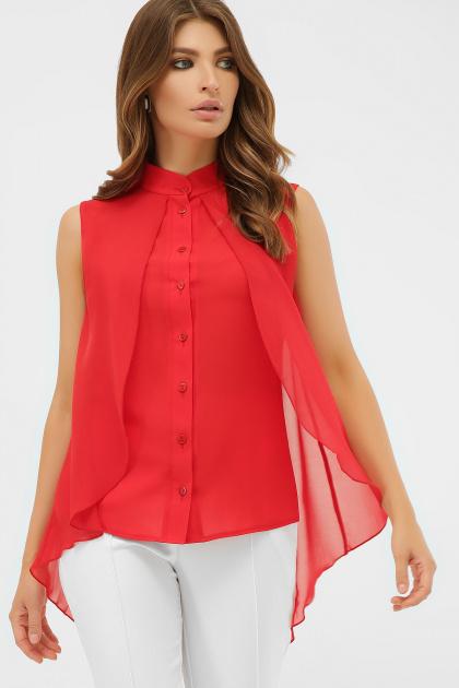 розовая блузка без рукавов. блуза Санта-Круз б/р. Цвет: красный