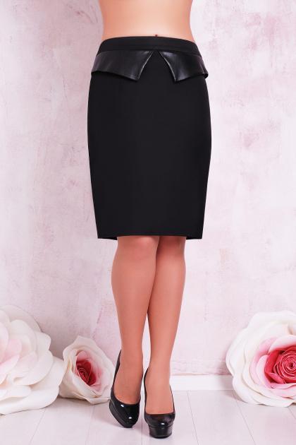 прямая бежевая юбка большого размера. юбка мод. №12 Б. Цвет: черный