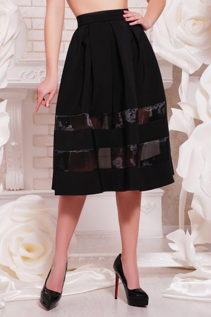 черная пышная юбка. юбка мод. №27. Цвет: черный