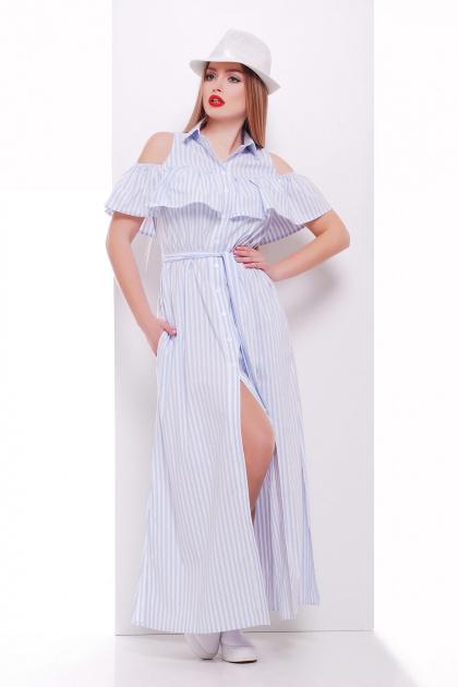 летнее платье в полоску. платье Лаванья б/р. Цвет: голубая полоска