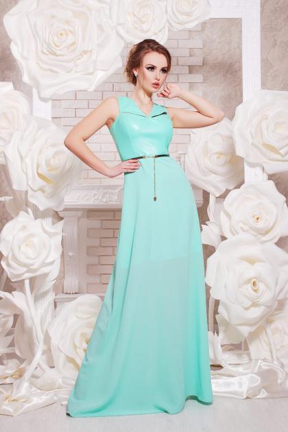красивое персиковое платье в пол. платье Финикс б/р. Цвет: мята