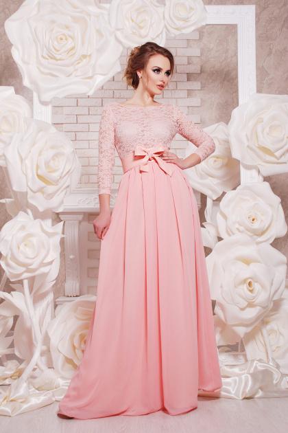 вечернее красное платье в пол. платье Марианна д/р. Цвет: персик