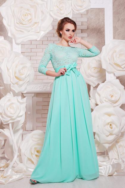 вечернее платье мятного цвета. платье Марианна д/р. Цвет: мята